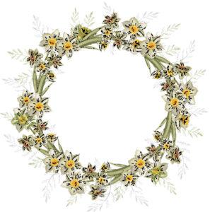 Living Easter Wreath @ The Hampshire Flower School & Studio, Moutan Odiham