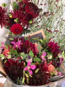 Bouquet of Farnham grown flowers by Moutan Florist