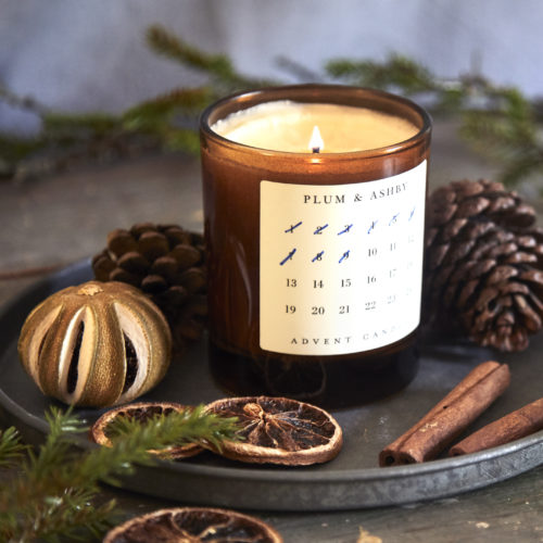 Plum & Ashby Advent Candle at Moutan Flowers