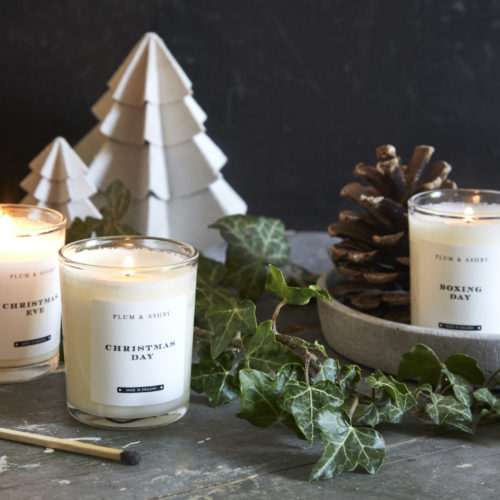 Plum & Ashby trio of Christmas votives at Moutan Flowers