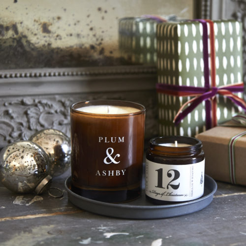 Plum & Ashby Christmas candle jars at Moutan Flowers