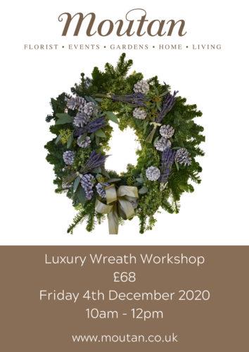 Luxury Moutan Christmas wreath workshop