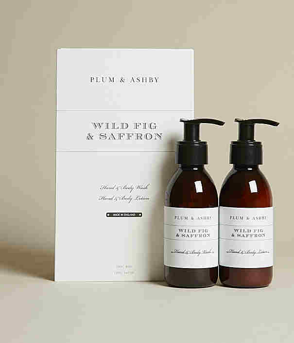 Plumb & Ashby Wild Fig & Saffron Body wash and body lotion