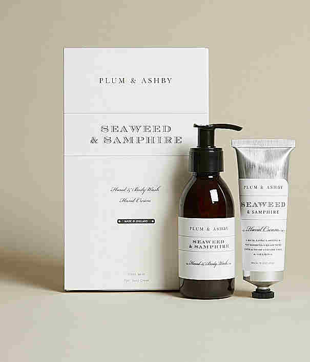 Plumb & Ashby Seaweed & Samphire Gift set Hand & Body was and Hand Cream.